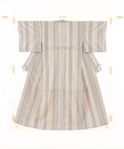 築城則子作 小倉織絹着物のメイン画像