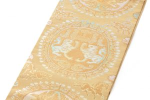 龍村平蔵製 袋帯「円文白虎錦」のサブ1画像