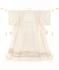 佐々木苑子作 単衣紬付下げのメイン画像