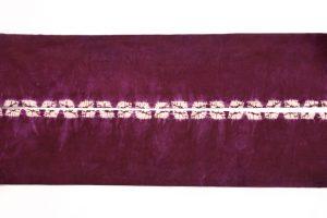 紫根染 綿名古屋帯のサブ4画像