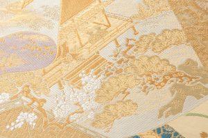 川島織物製  本金箔加良錦袋帯のサブ2画像