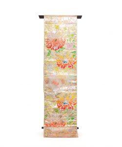 龍村平蔵製 袋帯「松嶋牡丹錦」のメイン画像