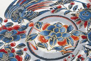 龍村平蔵製 袋帯地「芙蓉手花鳥文」のサブ2画像