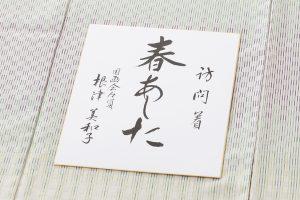 根津美和子作 紬訪問着地 「春あした」のサブ5画像