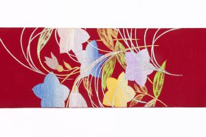 龍村平蔵製 夏袋帯「桔梗尾花」のサブ4画像