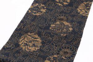 科布 藍型染八寸名古屋帯のサブ1画像