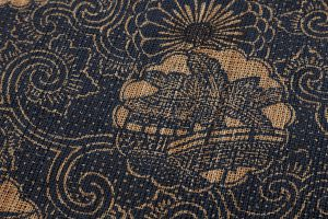 科布 藍型染八寸名古屋帯のサブ2画像