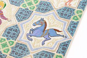 龍村平蔵製 袋帯「土耳古彩釉」のサブ3画像