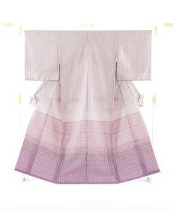 石月まり子作 貝紫しじら織着物のメイン画像