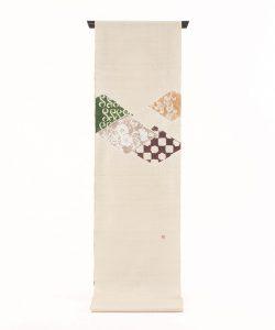 森健持作 辻が花染紬名古屋帯地のメイン画像