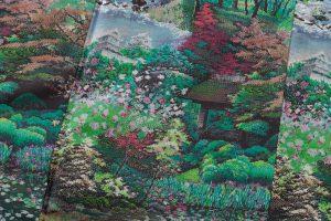 恵大島紬織物製 大島紬「兼六園の風景」のサブ4画像