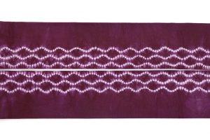 紫根染 綿名古屋帯のサブ3画像