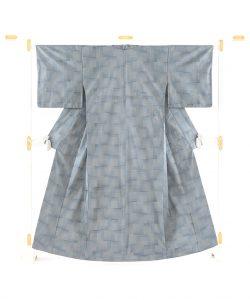 綾の手紬染織工房製 秋山眞和作 綾の手紬着物のメイン画像