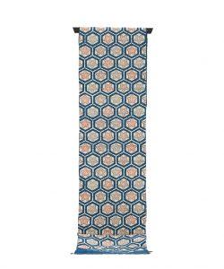 出羽の織座製 正藍型染名古屋帯地のメイン画像