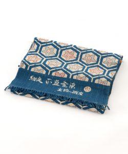 出羽の織座製 正藍型染名古屋帯地のサブ1画像