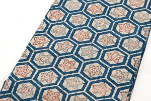 出羽の織座製 正藍型染名古屋帯地のサブ2画像