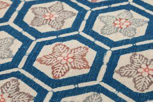 出羽の織座製 正藍型染名古屋帯地のサブ3画像