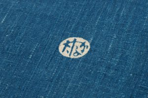 出羽の織座製 正藍型染名古屋帯地のサブ6画像