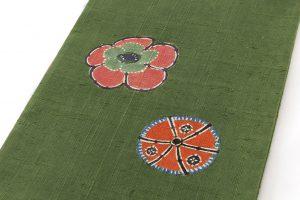 添田敏子作 型絵染紬着物と帯のサブ6画像