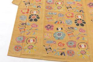 添田敏子作 型絵染紬着物と帯のサブ1画像