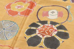 添田敏子作 型絵染紬着物と帯のサブ2画像