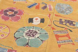 添田敏子作 型絵染紬着物と帯のサブ3画像