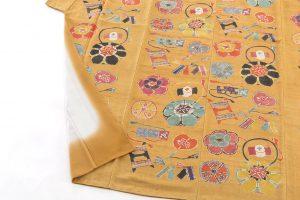 添田敏子作 型絵染紬着物と帯のサブ4画像