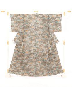 型染紬着物のメイン画像
