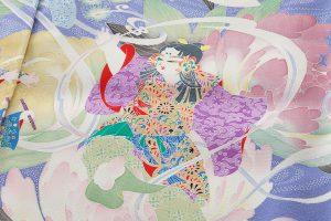 山名田明生作 本加賀友禅訪問着地のサブ4画像