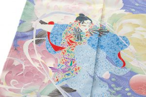 山名田明生作 本加賀友禅訪問着地のサブ5画像