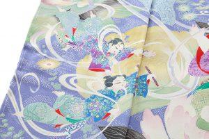 山名田明生作 本加賀友禅訪問着地のサブ6画像