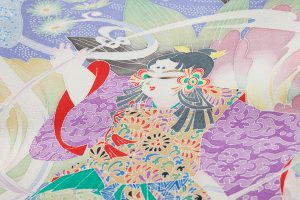山名田明生作 本加賀友禅訪問着地のサブ7画像