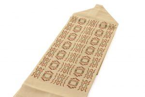 人間国宝 宮平初子作 首里花織紬名古屋帯のサブ1画像