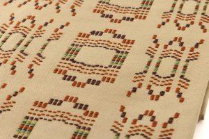 人間国宝 宮平初子作 首里花織紬名古屋帯のサブ3画像