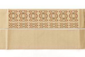 人間国宝 宮平初子作 首里花織紬名古屋帯のサブ6画像