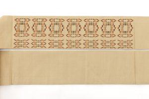 人間国宝 宮平初子作 首里花織紬名古屋帯のサブ7画像