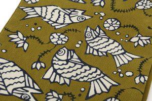 柚木沙弥郎作 型絵染名古屋帯のサブ1画像