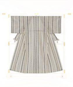 青戸柚美江作 出雲織綿着物のメイン画像
