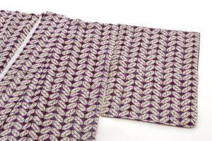 紫根染 紬着物のサブ1画像