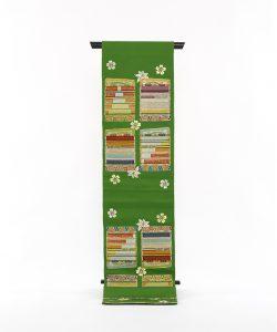 龍村平蔵製 袋帯「威毛錦緑色」のメイン画像