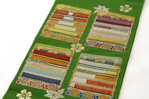 龍村平蔵製 袋帯「威毛錦緑色」のサブ1画像