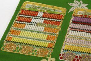 龍村平蔵製 袋帯「威毛錦緑色」のサブ2画像