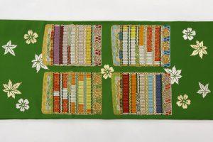 龍村平蔵製 袋帯「威毛錦緑色」のサブ5画像