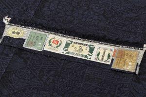 結城紬160亀甲総絣 着物のサブ7画像