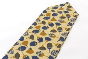 柚木沙弥郎作 型絵染紬絽名古屋帯のサブ1画像