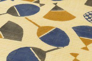 柚木沙弥郎作 型絵染紬絽名古屋帯のサブ2画像