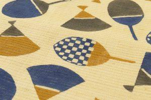柚木沙弥郎作 型絵染紬絽名古屋帯のサブ3画像