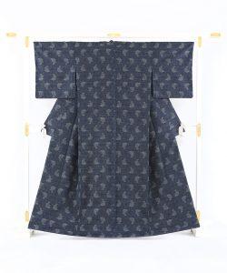 藍染 大島紬着物のメイン画像