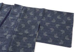 藍染 大島紬着物のサブ1画像