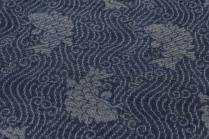 藍染 大島紬着物のサブ4画像